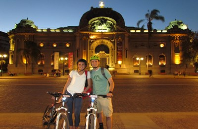 Private Bike Tour – Santiago By Night 🕣 8 pm