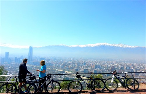 Bike Tour Santiago Chile - San Cristobal Hill