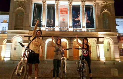 City Bike Tour at night Santiago - Huaso Tours