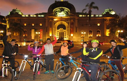 Santiago City Bike Tour by night - Huaso Tours