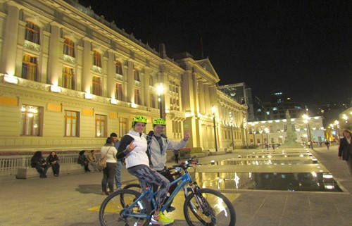 Santiago Chile Bike tour by night