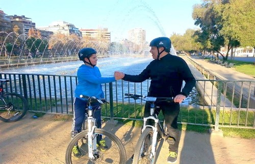 Santiago Parks bike tour