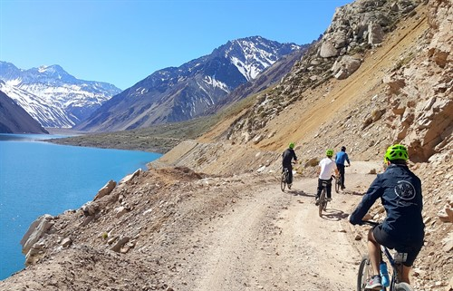 Biking trip in the Andes